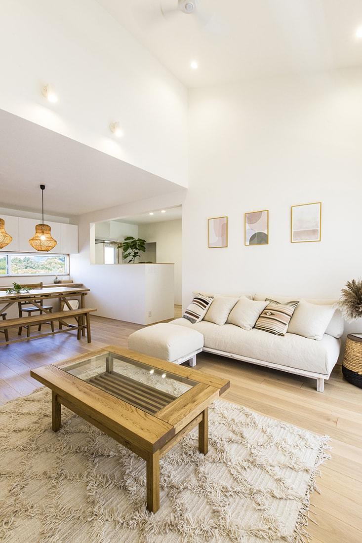 熊本で家を建てるなら愛住宅。施工例 リビング ダイニング LDK