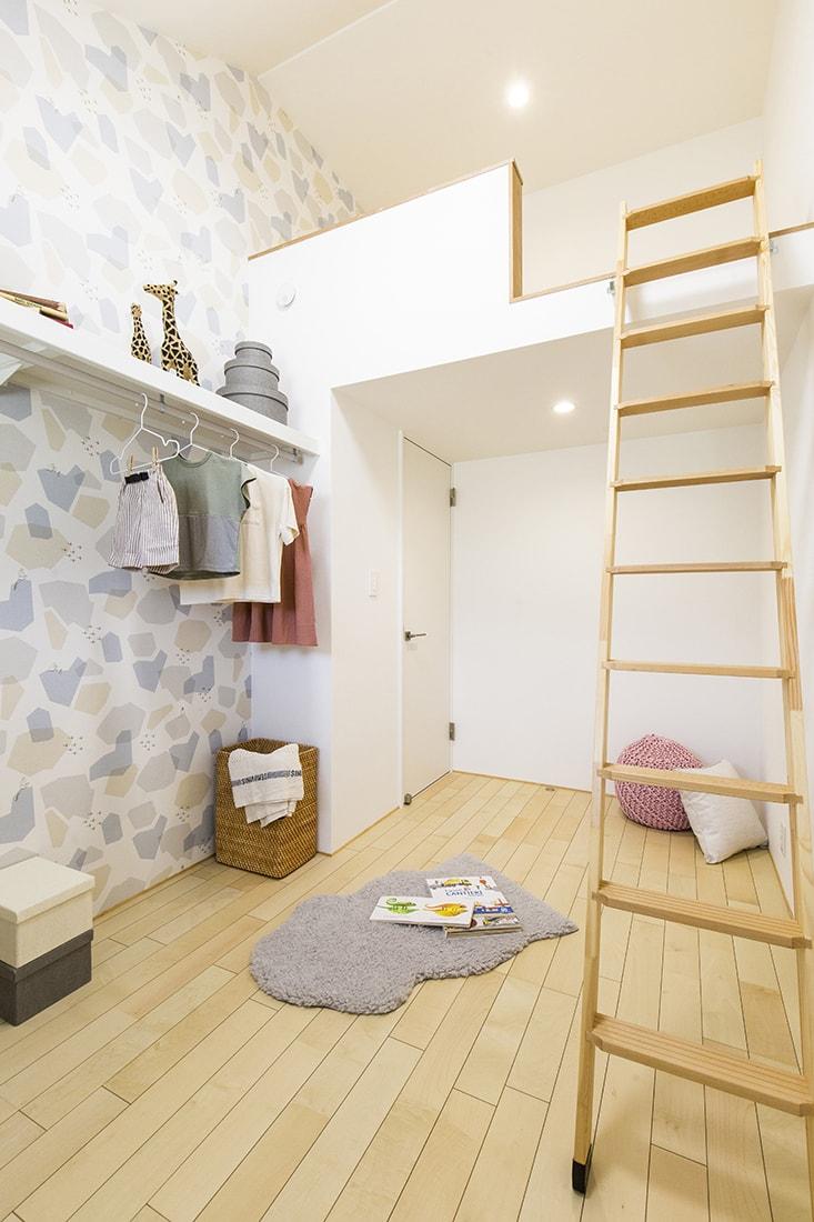 熊本で家を建てるなら愛住宅。舞原平屋モデルハウス。ロフト